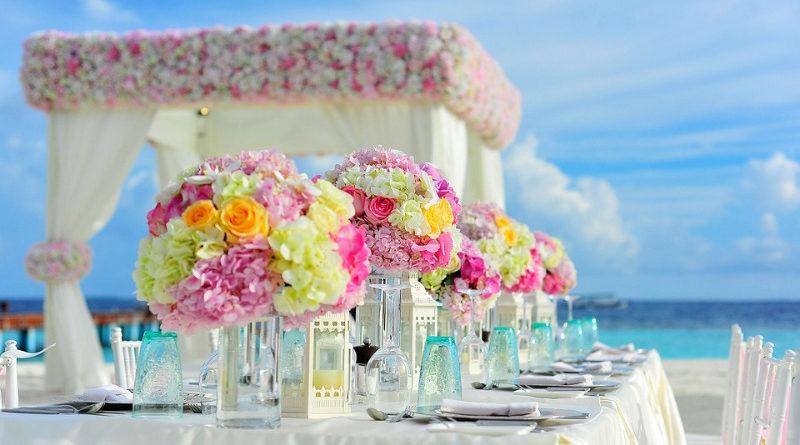 Blumendeko am Hochzeitstag
